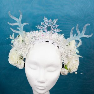 Deer-Haarschmuck-Winter