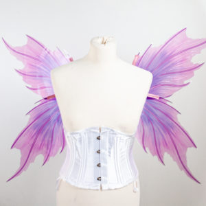 Merfairy wings in fliede rund rosa